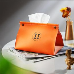 tissue box high-end home living room creative napkin Napkins car simple leather light luxury on Sale
