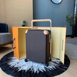 Ingrosso Brand classico designer di lusso viaggio valigia bagagli bagaglio moda unisex tronco borsa fiori lettere box box box spinner universale ruota borse borse