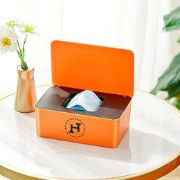 Boîte grande capacité étudiant adulte masque nasal masque de rangement temporaire bouche ménage tissu humexe avec couvercle en Solde