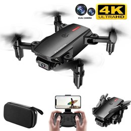 Wholesale New P2 Mini Drone 4K Profesional HD Wide-Angle Dual Camera 1080p WIFI FPV RC Drone Foldable Quadcopter Toys For Boys 210325