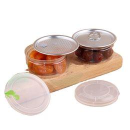 100ml Limpar Frasco de Plástico Pet embalagem com tampa de metal Lata hermética lata pode puxar anel BHO Oi Concentrate Recipiente Alimentos Herb Caixa de armazenamento em Promoção