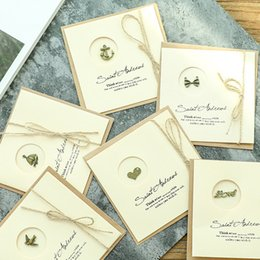 10pcs   set classic kraft paper blank card greeting handmade painting DIY envelope on Sale