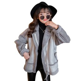 Wholesale china winter jackets for sale - Group buy Children s clothing one generation female girl deer skin pills jacket autumn and winter models China short children s zipper jacket