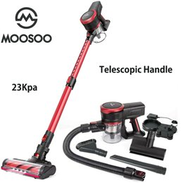Wholesale MOOSOO K17U 23Kpa Cordless Stick Vacuum Cleaner Strong Suction 200W Brushless Moter with Telescopic Tube for Pet Hair Carpet Cars