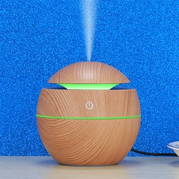Wholesale Mini Air Humidifier For Car Home Office Bedroom Freshener USB Aroma Essential Oil Diffuser Wood Grain With LED Night Light