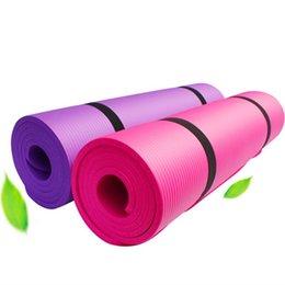 Wholesale 1830*610*10mm NBR Yoga Mat Non Slip Carpet Fitness Environmental Gymnastics Mats Pilates Gym Sports Exercise Pads For Beginner 22 W2