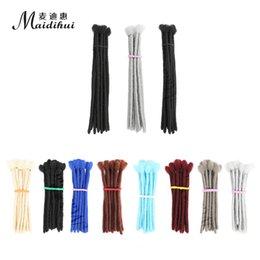 Alta temperatura silk afro kinky cabelo humano dreadlock extensão permanente cabelo humano crochetar dreadlock em Promoção