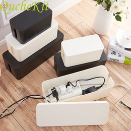 Plastic Wire Storage Box Power Line Storage CasesJunction Box Cable Tidy Storage Box Household Necessities 3 Sizes on Sale