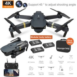 E58 UAV 4K Folding Mini Mini HD Aerial Photography Quadcopter WiFi Real-Time GPS Yujy019 on Sale
