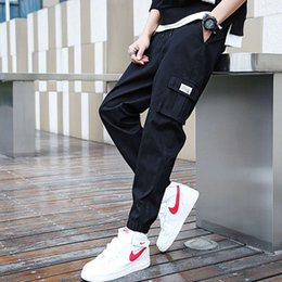 Wholesale leggings for men resale online - Men s overalls new style Leggings spring and autumn youth Korean sports comfortable loose fashion brand casual Capris for men
