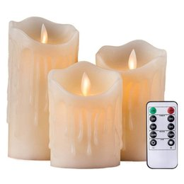remote control tea light candles Canada - Remote Control LED Flameless Candle Lights New Year Candles Battery Powered Led Tea Lights Easter Candle L0323