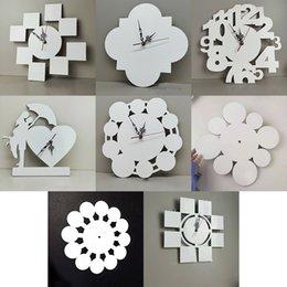 12 polegadas Sublimação Blanks relógios de parede DIY Padrão Transferência de calor MDF Relógio Decorações para casa 8 estilos XD24596 em Promoção