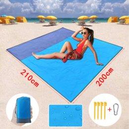 Wholesale 200*210cm Portable Waterproof Beach mat Pocket blanket Camping Tent Ground Mat Mattress Outdoor Camping Picnic Mat FY9510