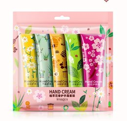 5pcs lot images Hand Cream Plant Extract Fragrance Moisturizing Nourishing suit Oil-control Anti-chapping wrinkle Care 30g on Sale
