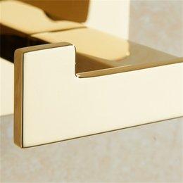 Altın Havlu Kanca Bakır Çift Ceket Kanca Çinko Alaşım Altın Bitirmek Duvar Askı Havlu Banyo Robe Aksesuarları için 378 R2
