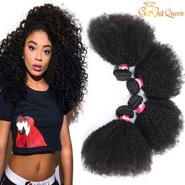 9A Brasileiro Afro Kinky Curly Hair Bundles Mink Brasileira Curly Virgem Humano Extensões Afro Kinky Curly Weaves Gaga Queen Cabelo em Promoção