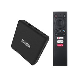 Wholesale MECOOL ATV KM1 2GB+16GB set-top TV box 2T2R wifi Android 10.0 4K HD network player free DHL