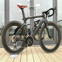 Bob Concept Carbon Road Bike Zwart Fietsopslag Complete fiets met Ultegra Groupset 88mm Bob Whebeelset