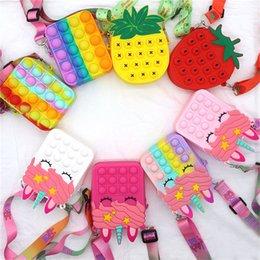 Опт DHL FIDGET TOYS SENSORY мода сумка малыш отжимает пузырь Rainbow анти стресс образовательные дети и взрослые декомпрессионные игрушки свадебные подарки