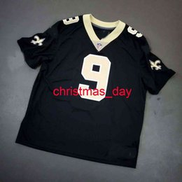 drew brees jerseys Australia - 100% Stitched #9 Drew Brees BLACK Jersey Men Women Youth XS-6XL Add Any Name Number