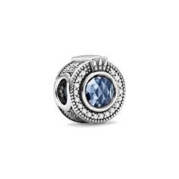 Funkelnde blaue Krone Pave Lines Clip Schneeflocke Herz DIY Fine Beads Fit Original Pandora Charms Silber 925 Armband Schmuck 429 T2 im Angebot