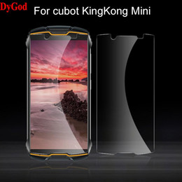 Wholesale cubot mobile phones resale online - For Cubot KingKong Mini Tempered Glass Front Film Screen Protector inch Toughened Mobile Phone Cover Cell Protectors