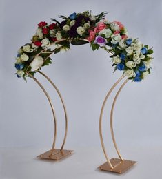 New Style Flower Rack Gold Arch Stand Road Lead Wedding Centerpiece Flower Rack For Event Party Decoration