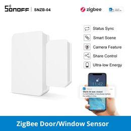Wholesale SONOFF Zigbee Door Sensor SNZB 04 Smart Wireless Door Window Sensor Work With SONOFF Zigbee Bridge Add Security to your Home