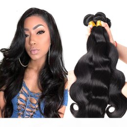 Body Wave Bundles Brazilian Hair Weave Bundles Natural Color 100% Human Hair Bundles Non-Remy Hair Weave on Sale