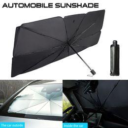 Опт Автоковерты интерьер автомобиль Parasol автомобиль крышка лобового стекла УФ защита от солнцезащитного оттенка Переднее окна защита интерьера складной зонт