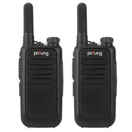 2 шт. POFUNG T15 FRS Цифровая трубка, фонарик, 16 каналов, двойные ручки (фиксированная антенна), алюминиевая алитеризация, защищенная 2W / 0.5 Вт. Интегрированная батарея Walkie-Talkie 1500 мАч на Распродаже