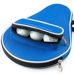 Venta al por mayor de Raquetas de tenis de mesa profesional de una pieza Bolsa de murciélago Oxford Pong Funda con bolas 2 colores 30x20.5cm ROQUETS
