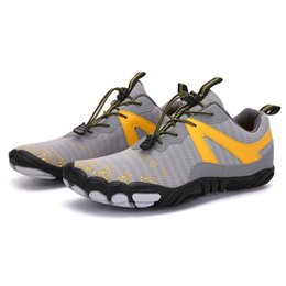 2021 Four Seasons Five Fingers Sports shoes Mountaineering Net Extreme Simple Running, Cycling, Hiking, green pink black Rock Climbing 35-45 six on Sale
