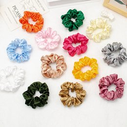 European Other Fashion Accessories And American Imitation Silk Satin Simple Fabric Pure Color Hair Rope