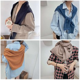 Wholesale knitted rabbit poncho resale online - scarves Autumn winter Japanese and Korean sweet shawl East Gate fashion multi color isn style women s knitting rabbit cashmere scarf