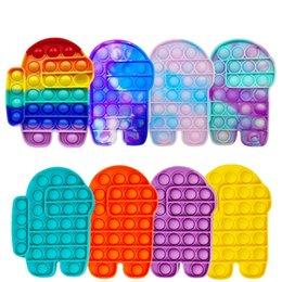 Unter den USA Push Pops Blase Sensory Spielzeug Autismus Bedürfnissen Squishy Erwachsenen Kind Lustige Popit Anti-Stress Pop Es filt Stress Absturz Spielzeug im Angebot