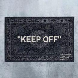 Wholesale Neew Upgrade ! White Cashew Fower Keep Off Carpets Floor Mats Trendy Designer Carpet Decorations Rug