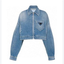 Women Jacket Denim Button Letters Spring Autumn Style With Belt Slim Corset For Lady Outfit Jackets Pocket Outsize Classcia Windbreaker Coats S-L on Sale