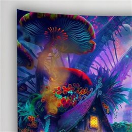 Wholesale Fairytale Mushroom World Tapestry Wall Hanging Art Print Wall Hanging Tapestry Living room Bedroom Bedside Decoration Wall Tapestry 330 R2