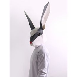 Wholesale puzzles DIY 3D snow rabbit animal paper process kit installation without scissors