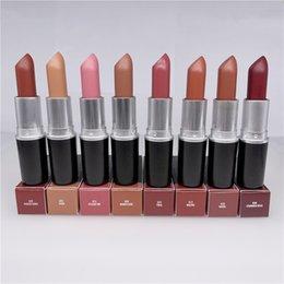 Top-Quality 2022 Ny matt läppstift Litter Lipsticks Frost Sexiga läppar Långvarig Naken Velvet 3G Vattentät Söt lukt med engelska Namn EPACKET 1PCS Kvinnor Makeup