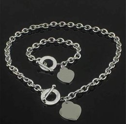 Wholesale Fashion stainless steel initial letter necklace bracelet chains for lady womens Party Wedding Lovers gift jewelry With BOX lz324