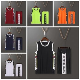 Discount football shirt logos 2021 style basketball football vest jersey training suit Sets 6 colors L-5XL can be customized any logo Soccer shirt Wear have pockets 2037