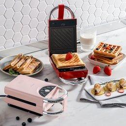 Ingrosso 220 V elettrico sandwich maker waffle maker tostapane cottura multifunzione macchina per colazione takoyaki sandwichera 650w