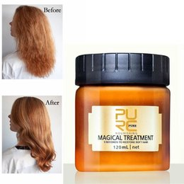 Wholesale PURC 120ML Magical treatment hair mask Nutrition Infusing Masque for 5 seconds Repairs damage hair restore soft hair