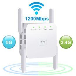 Routers 5 GHz Draadloze WIFI Repeater 1200 Mbps Router Booster 2.4G Long Range Extender 5G Signaalversterker Repeaters Netwerkcommunicatie