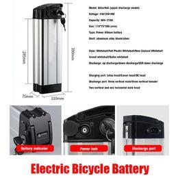 Elektrikli Bisiklet Pil Paketleri 24 V 36 V 48 V 52 V 10AH 12AH 15AH 20AH DUTY Ücretsiz Yüksek Güçlü Lityum Araç Şarj Edilebilir Piller