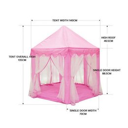Wholesale fairy castles resale online - Portable Foldable Princess Castle Play Tent Children Fairy House Funny Indoor Outdoor Playhouse Beach Toys FI ING Tents And Shelters