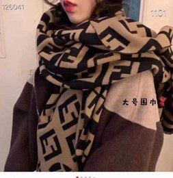 Korean f-letter imitation cashmere double-sided warm shawl fashion versatile thickened couple's new autumn and Winter Scarf on Sale