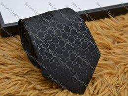 Męska litery krawat jedwabny krawat Black Blue Jacquard Party Wedding Business Woven Moda Projekt z pudełkiem G898